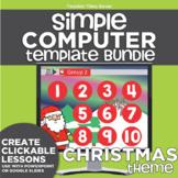 K-2 Technology Computer Lab Lesson Plans: Christmas Simple Computer Templates
