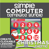 K-2 Technology Computer Lab Lesson Plans: Christmas Simple Computer Templates