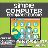K-2 Technology Computer Lab Lesson Plans: Dinosaurs Simple Computer Templates