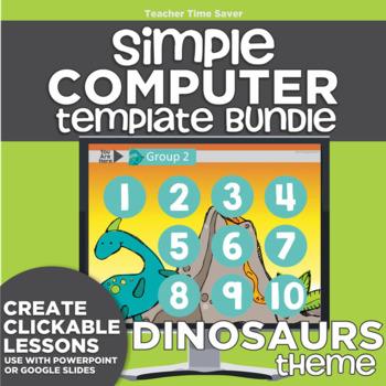 K-2 Technology Computer Lab Lesson Plans: Dinosaurs Simple Computer Templates