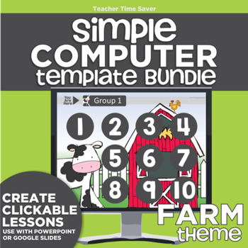 K-2 Technology Computer Lab Lesson Plans: Farm Simple Computer Templates
