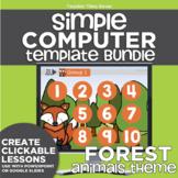 K-2 Simple Computer Center Lab Lesson Template Bundle: For