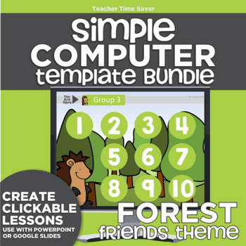 K-2 Technology Computer Lab Lesson Plans: Forest II Simple Computer Templates