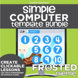 K-2 Simple Computer Center Lab Lesson Template Bundle: Fro