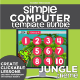 K-2 Technology Computer Lab Lesson Plans: Jungle Simple Computer Templates