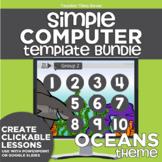 K-2 Simple Computer Center Lab Lesson Template Bundle: Oce