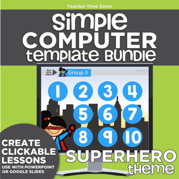 K-2 Technology Computer Lab Lesson Plans: Superhero Simple Computer Templates