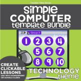 K-2 Simple Computer Center Lab Lesson Template Bundle: Tec