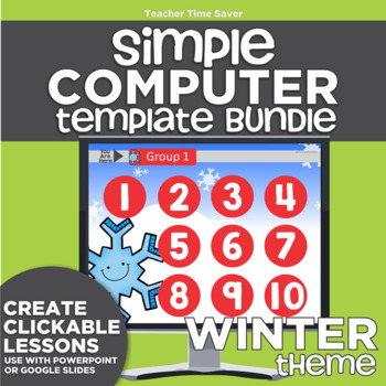 K-2 Technology Computer Lab Lesson Plans: Winter Simple Computer Templates