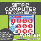 K-2 Simple Computer Center Lab Lesson Template Bundle: Win