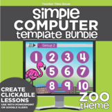 K-2 Technology Computer Lab Lesson Plans: Zoo Simple Computer Templates