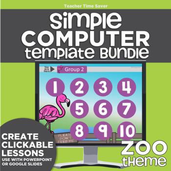 K-2 Technology Computer Lab Lesson Plans: Zoo Simple Computer Templates