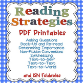 Reading Strategies PDFs Only with Interactive Student Notebook Foldables