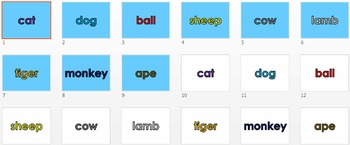 K - 2 Vocabulary PowerPoint/Flashcards