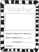 Second Grade Weather Unit Journal