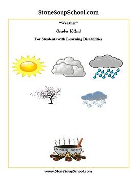 K-2 Weather for Students with Learning Disabilities - Reading - Science
