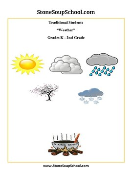 K - 2  Weather for Traditional Students - Reading - Science