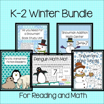 K-2 Winter Bundle for Reading and Math (Growing)