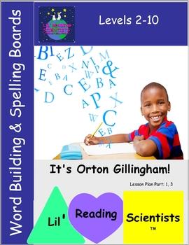 Word Building/Spelling/Phonemic Awareness Character Boards