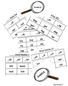 Word Families Word Sort Sampler: _at & _ot (Level K-2) - Exploring Words