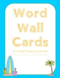 K-2 Word Wall Cards