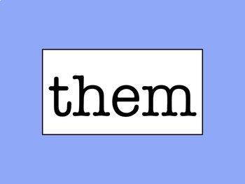 K-2 Word Wall - No Excuse/Sight Word Bundle