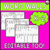 Word Walls Editable Personal