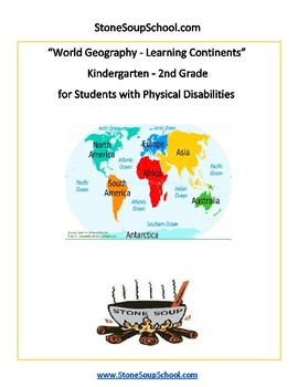 K - 2 World Geography for Students with Physical Disabilities