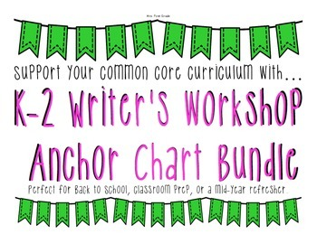 K-2 Writer's Workshop Anchor Chart Bundle