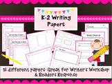 K-2 Writer's Workshop & Reader's Response Writing Paper & Graphic Organizers