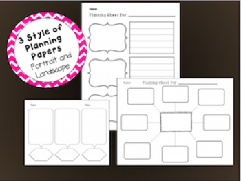 K-2 Writer's Workshop & Reader's Response Writing Paper & Graphic Organizers