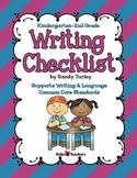 Writing Checklist K-2