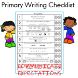 Primary Writing Checklist for Students and Parents