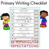 Primary Writing Checklist