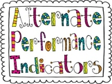 K-2nd Alternate Performance Indicators Posters (Special Ed