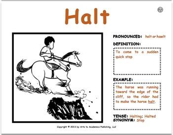 "Visual Vocabulary ""Word Wall"" Cards (30 Pack #1) K-2nd Grade Verbs"