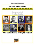 K - 2, U.S. Civil Rights Leaders for students with Autism