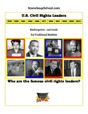 """K-2  """"U.S. Civil Rights Leaders"""" for Traditional Students"""