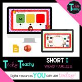"""K-2nd Short Vowel """"I"""" Word Families Interactive Google Slides **DIGITAL**"""