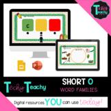 """K-2nd Short Vowel """"O"""" Word Families Interactive Google Slides **DIGITAL**"""