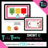 "K-2nd Short Vowel ""U"" Word Families Interactive Google Slides **DIGITAL**"