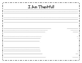 K-2nd Thanksgiving Writing Paper with Handprint