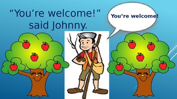 K-2nd grade grade storybook and reading comprehension {Johnny Appleseed}