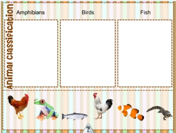 K-3 Animal Classification for MIMIO Five days of activities
