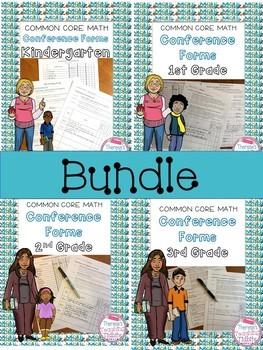 Common Core Math Conference Forms K - 3 BUNDLE