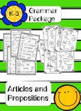 K-3 Grammar: Prepositions and Articles