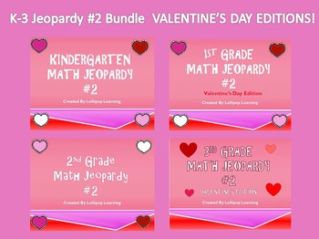 K-3 Jeopardy Bundle #2 (Valentine's Editions)