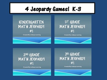 K-3 Jeopardy Bundle