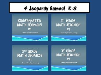 K-3 Jeopardy Bundle