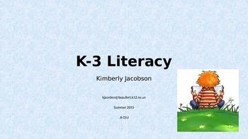 K-3 Literacy Course